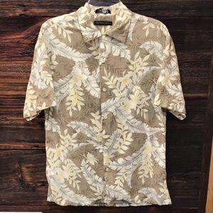 Geoffrey Beene Mens Short Sleeve Hawaiian Shirt M